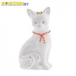 Копилка «Кошка Лиза» глянец белая