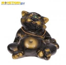 Копилка «Кот толстопуз» черный глянец