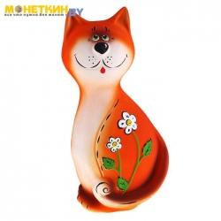 Копилка «Кот с цветком»