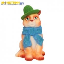 Копилка «Кот в шарфе» бежевый