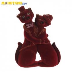 Копилка «Коты пара танго» бордовый