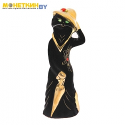 Копилка «Барышня в шляпе» черная