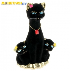 Копилка «Кошка с Котятами» булат черный