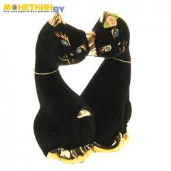 Копилка «Коты Поцелуй» булат черный