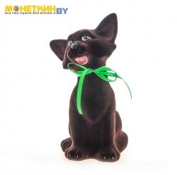 Копилка «Кошка Чистюля» коричневый