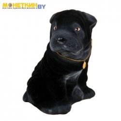 Копилка «Собака Шарпей» черный