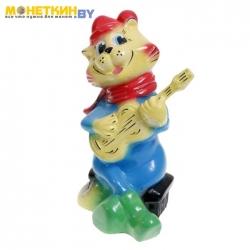 Копилка «Кот с гитарой» глянец