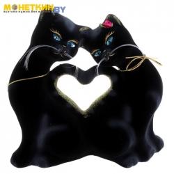 Копилка «Кошки Сердце» черная