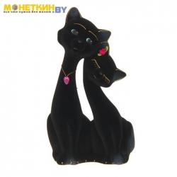Копилка «Коты пара Свидание» черный