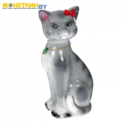 Копилка «Кошка Даша» глянец серый