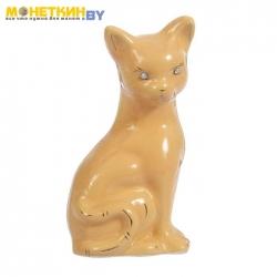 Копилка «Кошка Лиза» малая глазурь кремовая