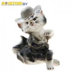 Копилка «Кошка Мадам» глянец серый