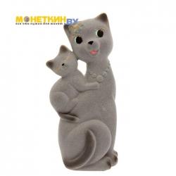 Копилка «Кошка Сьюзи – мама» серый