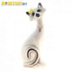 Копилка «Кот Маркиз» средний белый