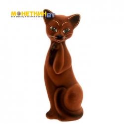 Копилка «Кошка Алиса» средняя коричневая