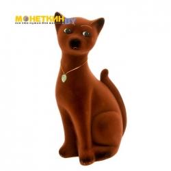 Копилка «Кот Марсик» коричневый