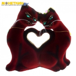 Копилка «Кошки Сердце» бордо