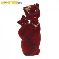 Копилка «Кошка Сьюзи – мама» бордовый