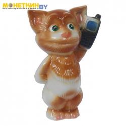 Копилка «Кот с телефоном»