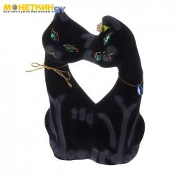 Копилка «Коты поцелуй» черные