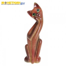 Копилка «Кошка Муся №1» красная