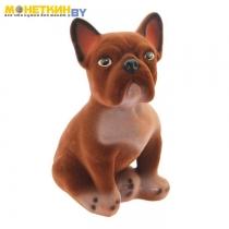 Копилка «Собака Французский Бульдог» коричневый