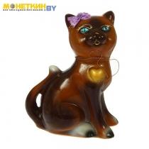 Копилка «Кошка Василиса» глянец шоколадный