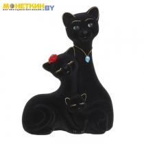 Копилка «Кот Семья» черный