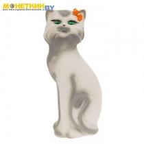 Копилка «Кошка Матильда» белая рисованая