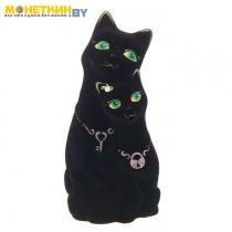 Копилка «Коты» ключик, замочек, черная