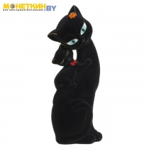 Копилка «Кошка Саманта – мама» черная