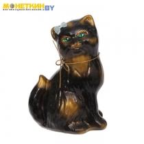 Копилка «Кошка Сима» глянец черный