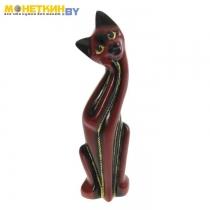 Копилка «Кошка Муся №4» красное дерево