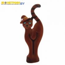 Копилка «Кошка в шляпе» коричневая