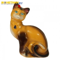 Копилка «Кошка Шарлотта» глянец бежево – шоколадный
