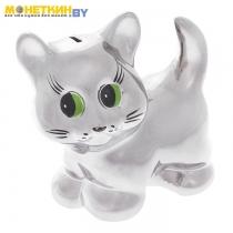 Копилка «Кошка Муся» серебро