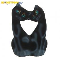 Копилка «Коты Поцелуй» черный