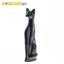 Копилка «Кот» черный золото глянец