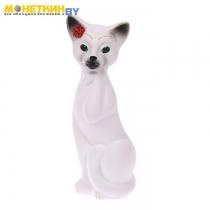 Копилка «Кошка Алиса» средняя белый