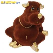Копилка «Собака толстопуз» булат коричневый