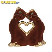 Копилка «Кошки Сердце» булат коричневый
