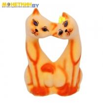 Копилка «Коты Поцелуй» персиковый