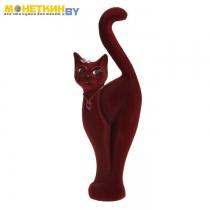Копилка «Кошка Анфиса» бордовая