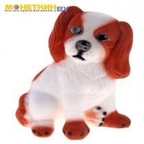 Копилка «Собака Малыш» бело – рыжий