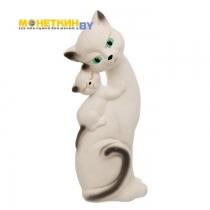 Копилка «Кошка Саманта – мама» белый