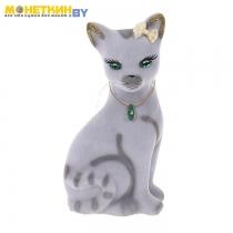 Копилка «Кошка Лиза» серый