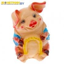 Копилка «Свинья с подковой»