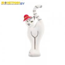 Копилка «Кошка в шляпе» белая