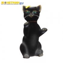 Копилка «Кот попрошайка» черный