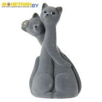 Копилка «Коты пара грация» серый